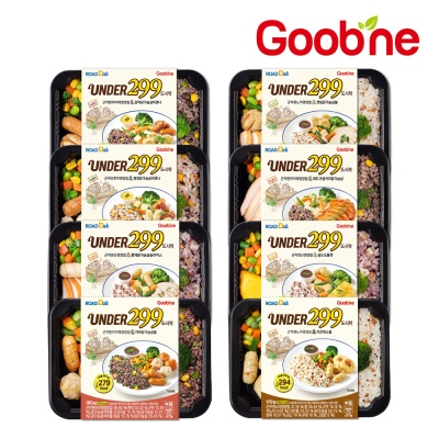 [굽네 로드닭] UNDER299 닭가슴살 도시락 8종 맛보기