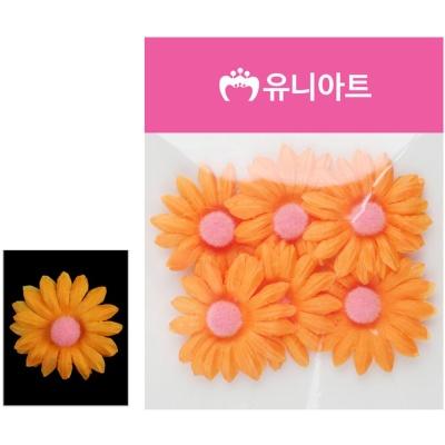 유니아트 (조화꽃) 1500 뿅국화 (주황)