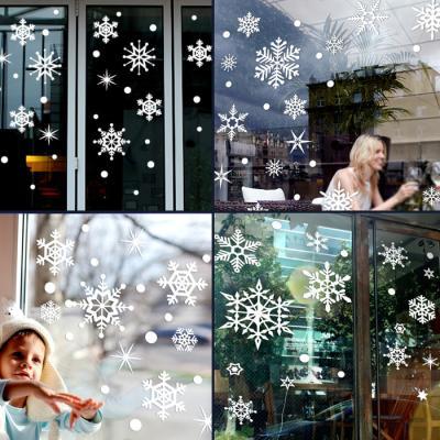 제제데코 크리스마스 눈꽃 스티커 장식 CMS4J123
