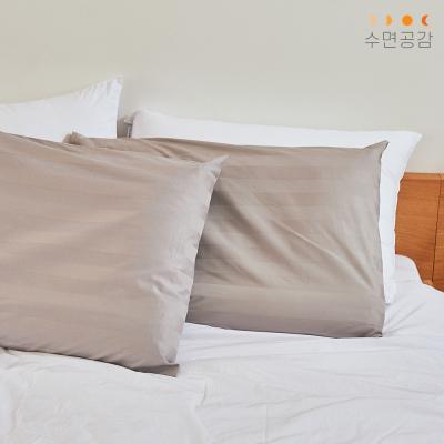 [수면공감] 우유베개 도비직 커버(50X70)/그레이