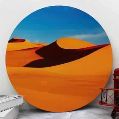 bf479-대형원형아크릴액자_주황빛의사막