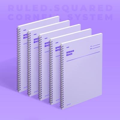 [모트모트] 스프링북 - 바이올렛 (룰드) 5EA