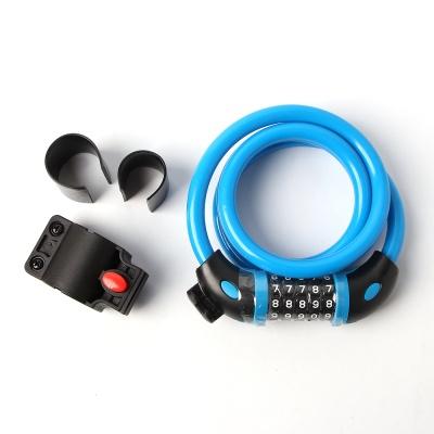 강철 자전거 자물쇠(120cm)/도난방지 와이어 잠금장치