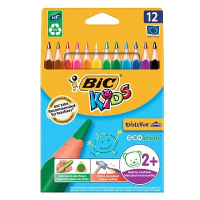 BIC 빅 에볼루션 삼각 바디색연필 12색