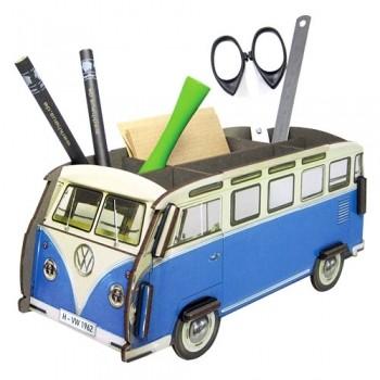 연필꽂이 블루 버스 Pen Box Blue Bus