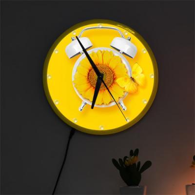 ng029-LED시계액자25R_해바라기꽃향기