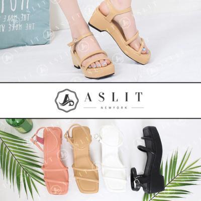 [애슬릿]발 편한 버클 발목 스트랩 웨지 통굽 샌들