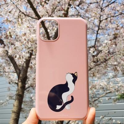 전통 명화 묘작도 고양이 꽃색 휴대폰 케이스