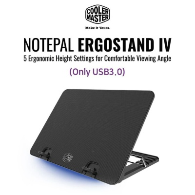 CM Notepal Ergostand IV Only USB 3.0 랩탑 쿨링패드