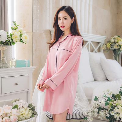 [쿠비카]고광택 샤틴 샤무즈 원피스 여성잠옷 W133