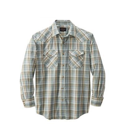 [펜들턴] 프런티어 체크 셔츠 세이지 브라운