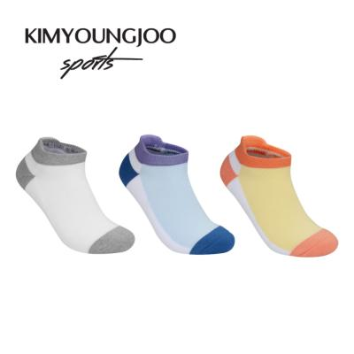 3팩세트 KYJ 로우컷 하이백 더블쿠션 남녀 골프양말