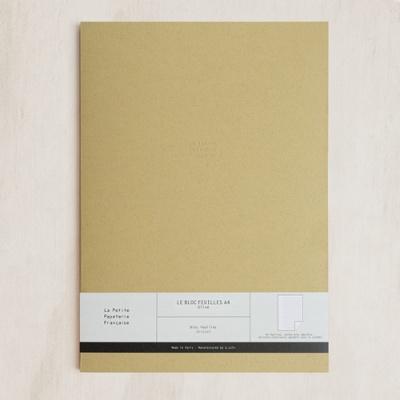 [라 페티트 페퍼티트 프랑세스]La Petite Paperterie Francaise 노트패드 A4 격자 _올리브