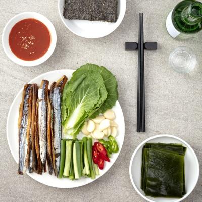 해풍으로 건조한 구룡포 햇 과메기 야채세트 5미