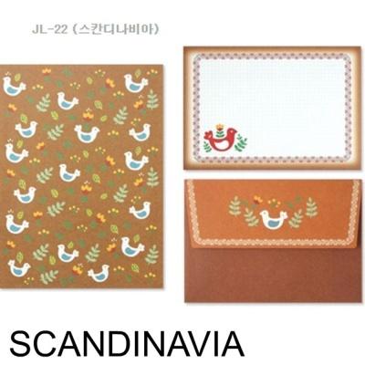 디원 미니 편지지 JL22 스칸디나비아 1개