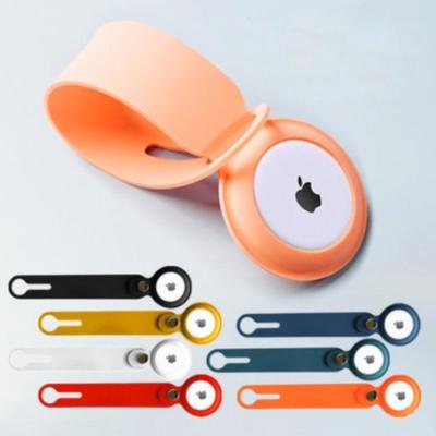 애플 에어태그 컬러 고리형 실리콘 케이스 버클 커버