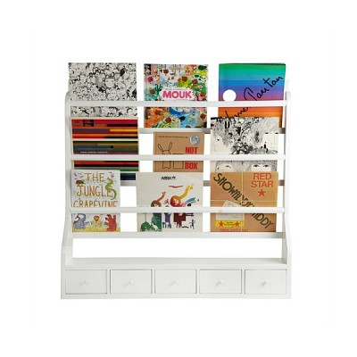 [Hubsch]Plate rack w/5 drawers,white 880002 벽선반