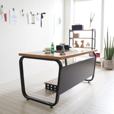 스틸뷰 1200책상 둥근프레임 테이블