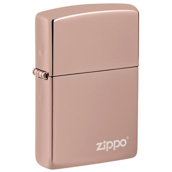 ZIPPO 49190ZL Classic High Polish RoseGold ZP Logo