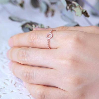 Mujer bonita Rings 블란치 로즈골드 체인 반지