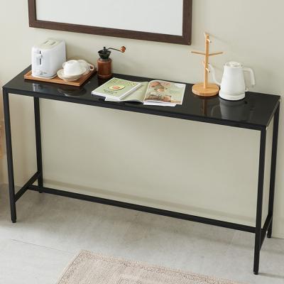심플라인 강화유리 철제 홈바 카페 테이블 1800