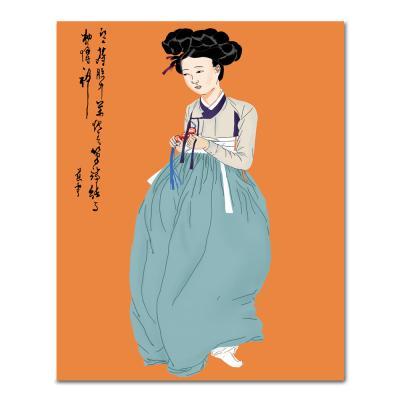 DIY 페인팅 신윤복의 미인도 PK07 (40x50)