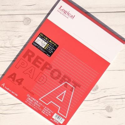 A4 50매 논리노트 고급 레포트용지..나카바야시 로지컬 레포트패드 d-11p