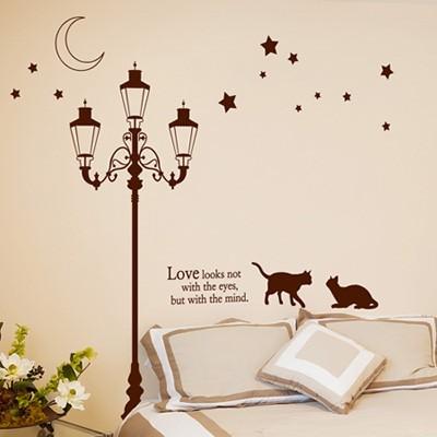 ijs260-별빛 아래 가로등과 고양이