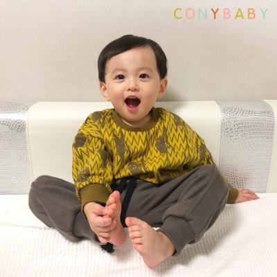 [CONY]펌킨 기모 맨투맨 상하복세트(키즈상하복)