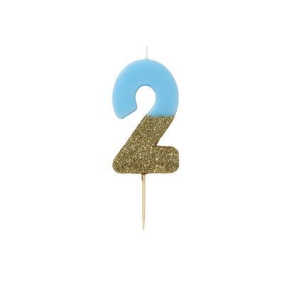 블루 글리터 숫자초 2