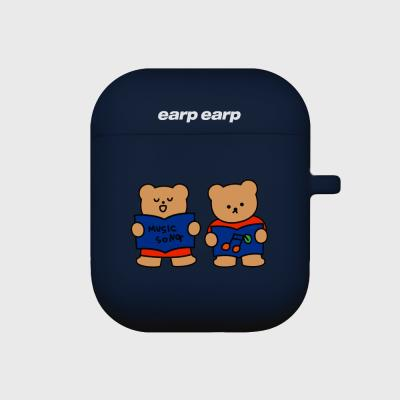 Music song bear-navy(Air pods)