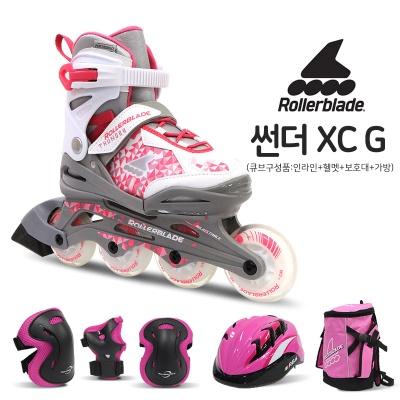 롤러블레이드 2019년 썬더XC-G 큐브/헬멧보호대가방