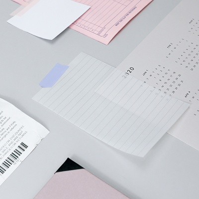 [아이스타일] 트레이싱 메모 패드 (줄)