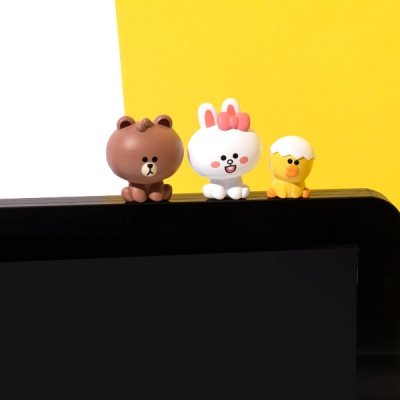 라인프렌즈 미니 모니터 피규어 1세트(3개)