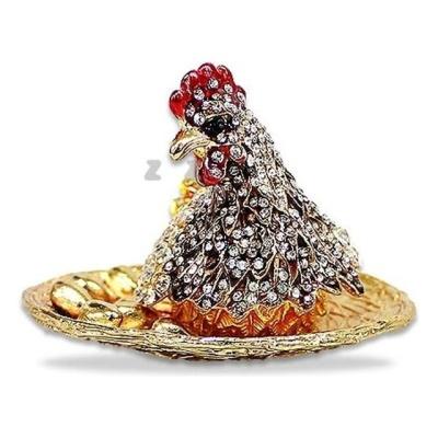 고급 칠보 닭 장식품 악세서리 보관함 보석함 쥬얼리