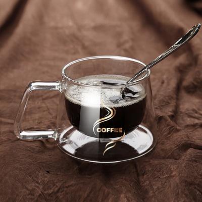 [로하티]썸데이 내열 커피잔 200ml/ 이중 유리잔