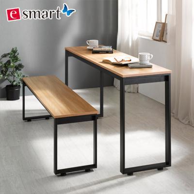 스틸 테이블1400x400+벤치의자세트 (사각다리)