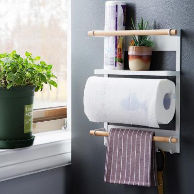 키친타올행주걸이 주방수납정리용품(냉장고 자석부착)