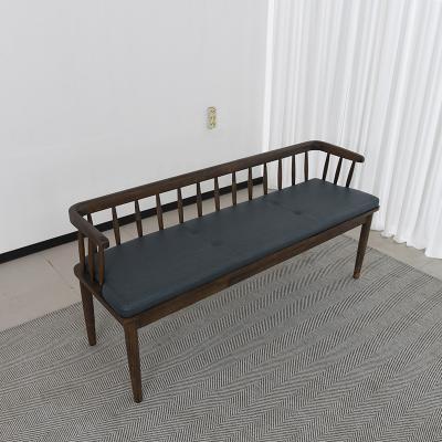 벨루 고무나무 원목 식탁 벤치의자 3인