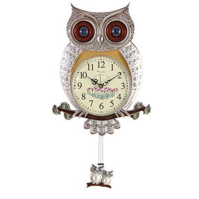 인테리어 SHINE OWL 벽시계 추 실버CH1582865