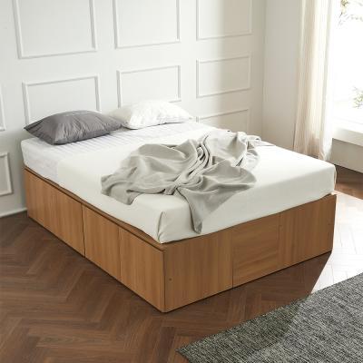 우앤 대용량 도어형 높은침대 퀸 침대프레임만