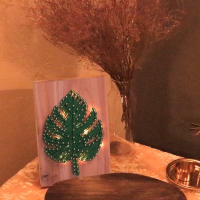 LED 몬스테라 스트링아트 만들기 패키지 DIY
