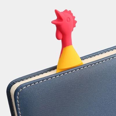 실리콘 치킨 책갈피 2개 캐릭터 북마크 디자인 북클립