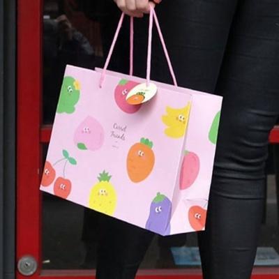 쇼핑 백 중형 선물 포장 종이 가방 봉투 기프트