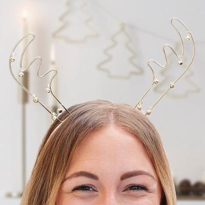 [빛나파티]루돌프 골드 메탈릭 머리띠 Party Headband