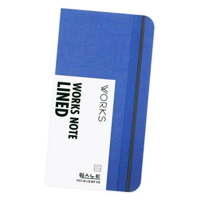 [무료 이니셜각인]웍스 노트 라인드 08 스틸 블루 포켓
