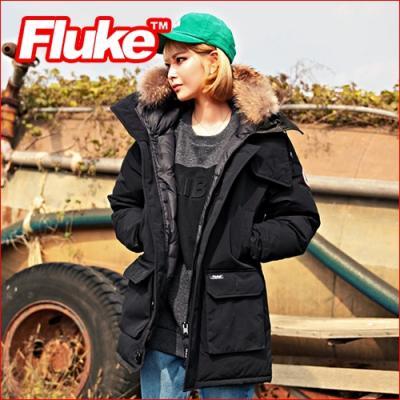 [플루크 패딩] 알레스카 리얼라쿤 다운야상 패딩 점퍼 블랙 FPJ1508-BLACK FLUKE 15FW