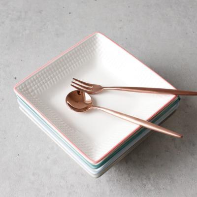 (메레신) 마인드터치 정사각 접시(소) - 4color