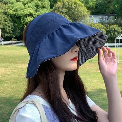 채비 자외선차단 양면 벙거지 썬캡 버킷햇