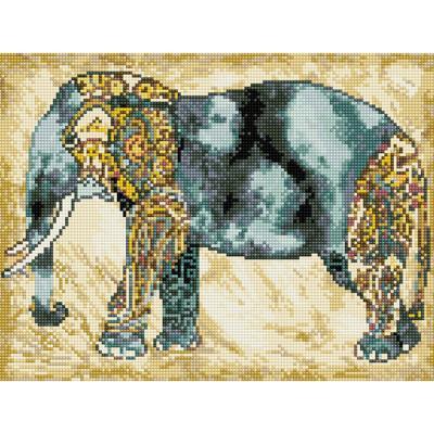 인도 코끼리 (캔버스형) 보석십자수 30x40